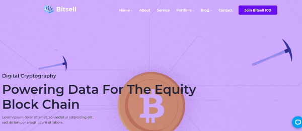 Amazing WordPress Themes for Crypto Currency: Bitsell