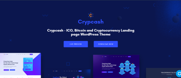 Amazing WordPress Themes for Crypto Currency: Crypcash
