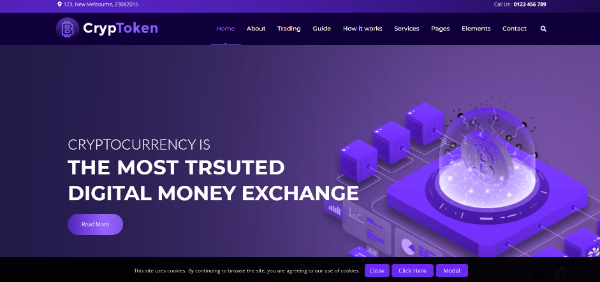 Amazing WordPress Themes for Crypto Currency: Crypotoken
