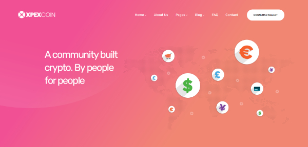 Amazing WordPress Themes for Crypto Currency: XPEXcoin