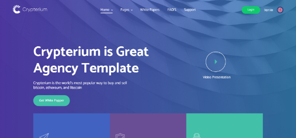 Amazing WordPress Themes for Crypto Currency: Crypterium