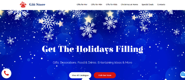 Creative Seasonal HTML Landing Pages: Gift Store - Christmas Landing Page Template