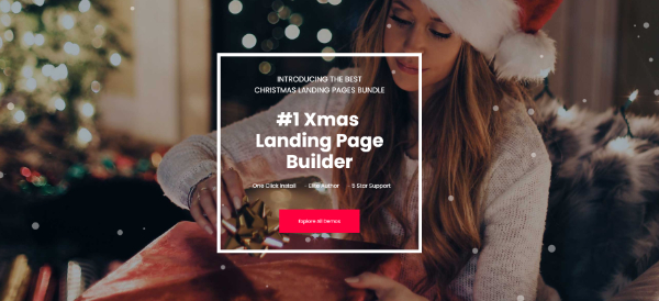 Creative Seasonal HTML Landing Pages: 9. Spirit - Christmas Landing Pages with Page Builder
