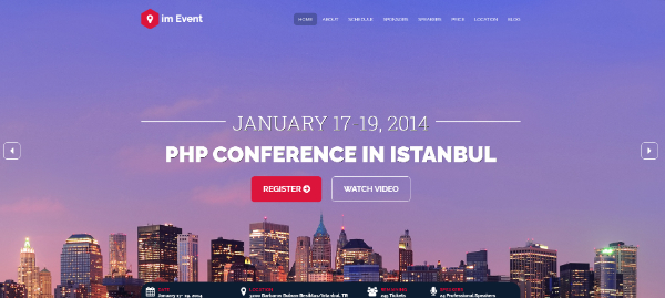 Creative Seasonal HTML Landing Pages: imEvent - Conference Landing Page HTML Template
