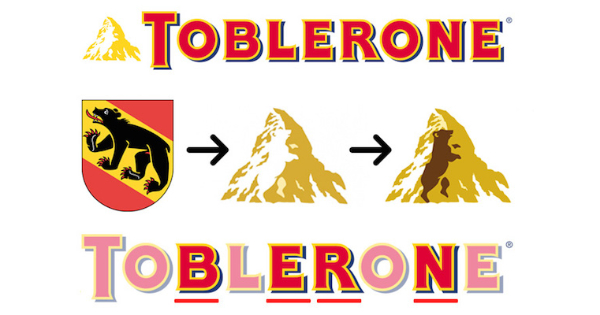 Logos With Hidden Messages for Inspiration: Toblerone