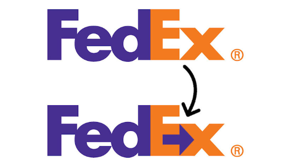 Logos With Hidden Messages for Inspiration: FedEx