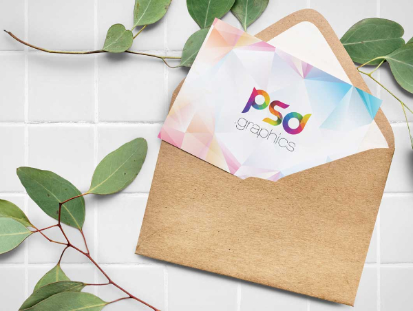 Postcard Mockups for Designers: Recycled Paper