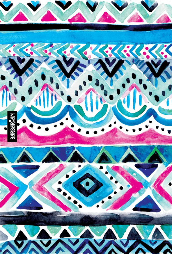 Free Backgrounds With Tribal Feel: Colorful Tribal