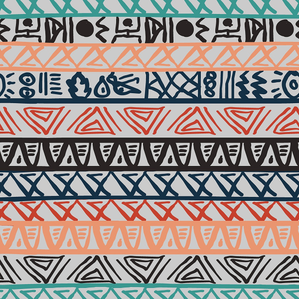 Free Backgrounds With Tribal Feel: Seamless Striped Pattern