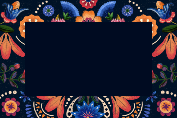 Free Backgrounds With Tribal Feel: Geometric Ethnic Frame