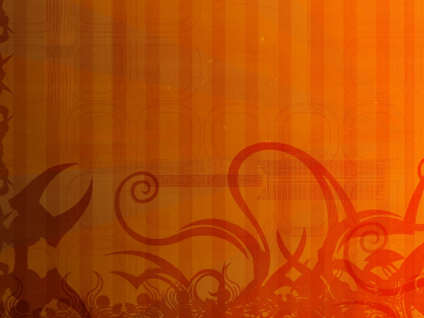 Free Backgrounds With Tribal Feel: Orange Floral