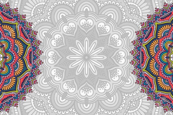 Free Backgrounds With Tribal Feel: hand drawn pattern