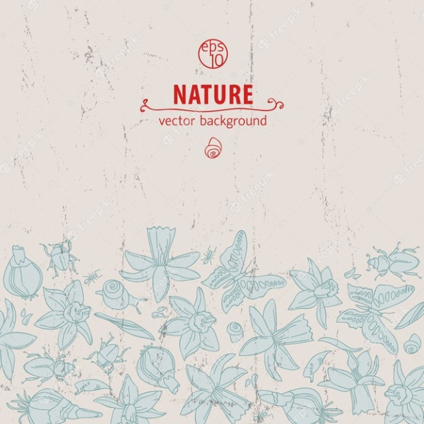 Creative Doodle Backgrounds for Designers: Nature Doodle
