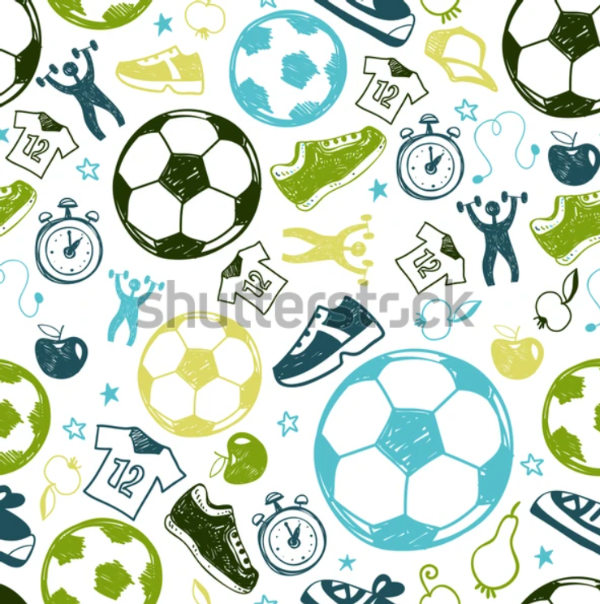 Creative Doodle Backgrounds for Designers: Sports Doodle