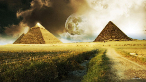 Free Surreal Backgrounds for Designers: Dramatic Pyramids