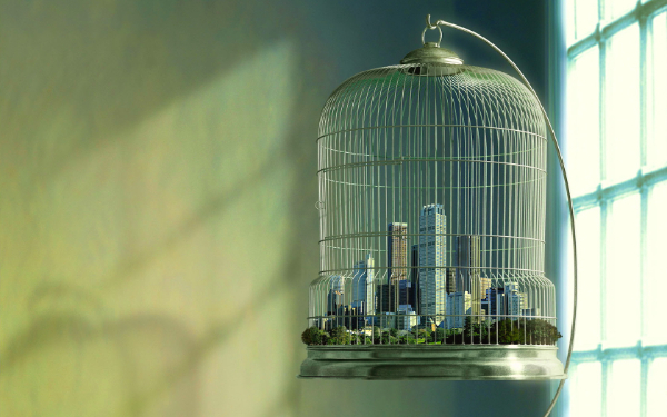 Free Surreal Backgrounds for Designers: City in Cage