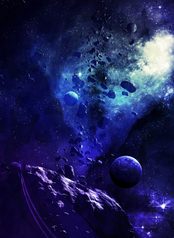 Free Surreal Backgrounds for Designers: Blue Space
