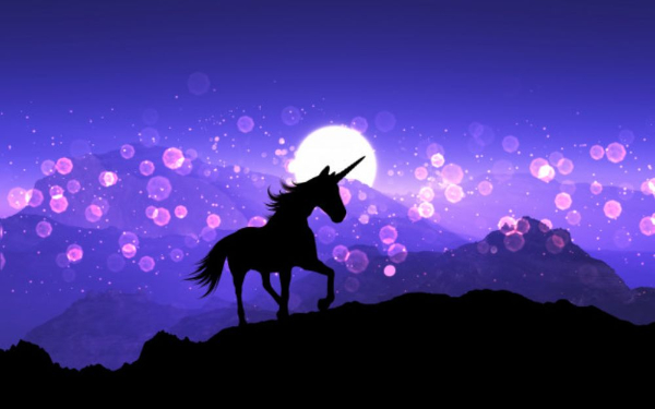 Free Surreal Backgrounds for Designers: Purple Background Unicorn