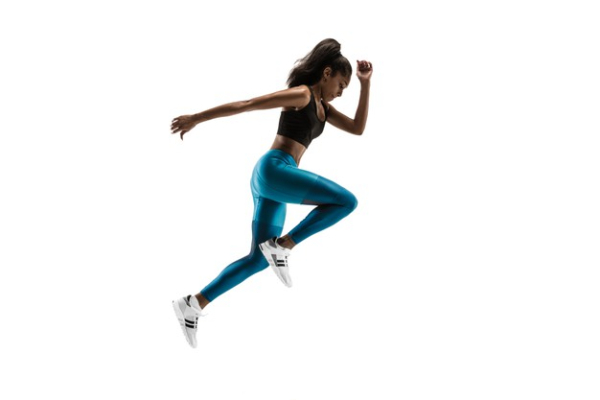 Free Amazing Sports Backgrounds for Designers: Women Running in Studio Background