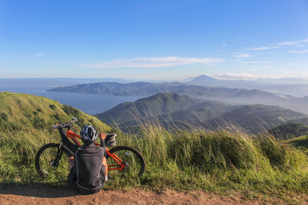 Free Amazing Sports Backgrounds for Designers: Adventure Cycling in Nature