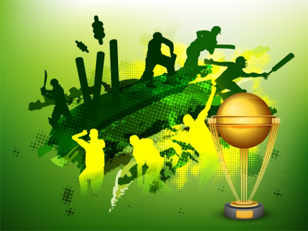 Free Amazing Sports Backgrounds for Designers: Cricket World Cup Background