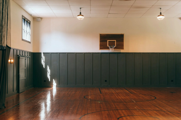 Free Amazing Sports Backgrounds for Designers: Indoor Empty Basketball Court