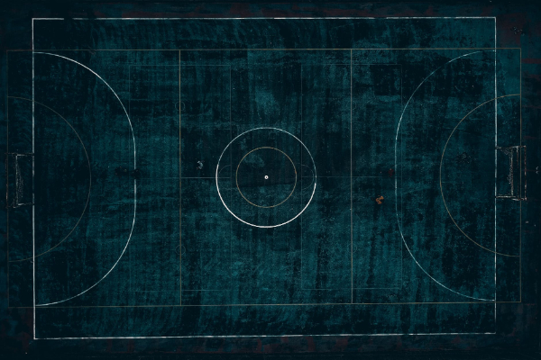 Free Amazing Sports Backgrounds for Designers: Aerial View of Football Field