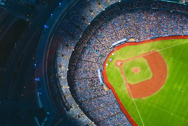 Free Amazing Sports Backgrounds for Designers: Drone Shot of Baseball Ground
