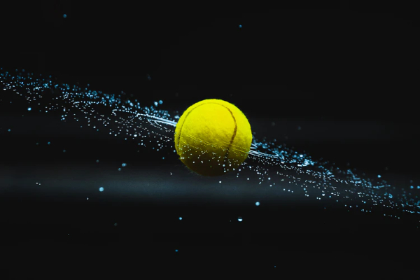 Free Amazing Sports Backgrounds for Designers: Tennis Ball in Black Background