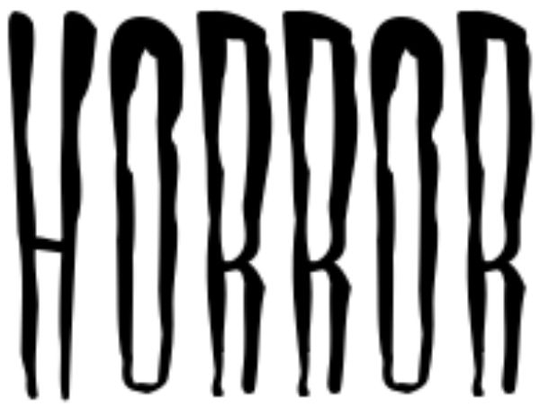 Scary Fonts to Give a Horror Feel : Horror