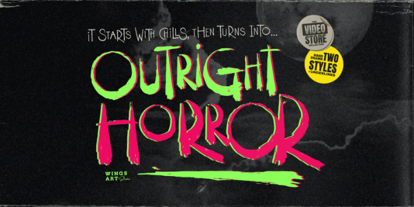 Scary Fonts to Give a Horror Feel : Outirght Horror