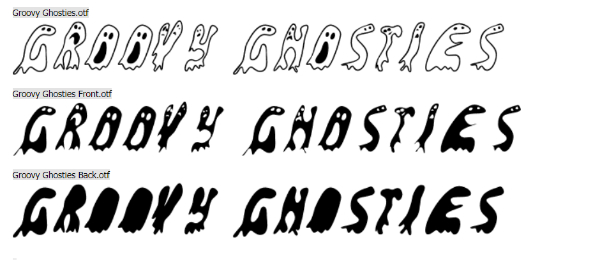 Scary Fonts to Give a Horror Feel : Groovy Ghosties