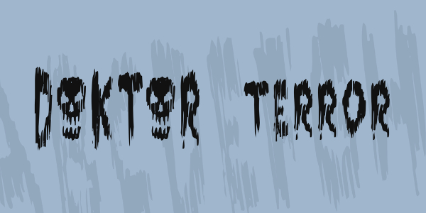 Scary Fonts to Give a Horror Feel : Doktor Terror