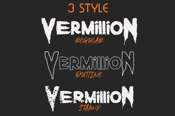 Scary Fonts to Give a Horror Feel : Vermillion