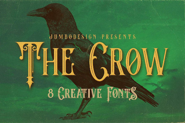 Scary Fonts to Give a Horror Feel : The Crow