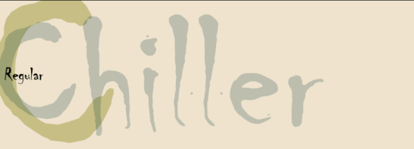 Scary Fonts to Give a Horror Feel : Chiller