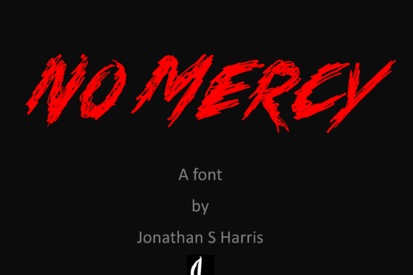 Scary Fonts to Give a Horror Feel : No Mercy