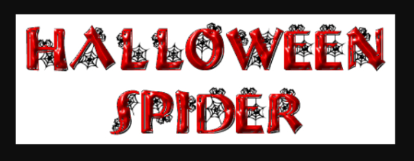Scary Fonts to Give a Horror Feel : Halloween Spider