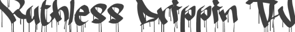 Scary Fonts to Give a Horror Feel : Ruthless Dripping
