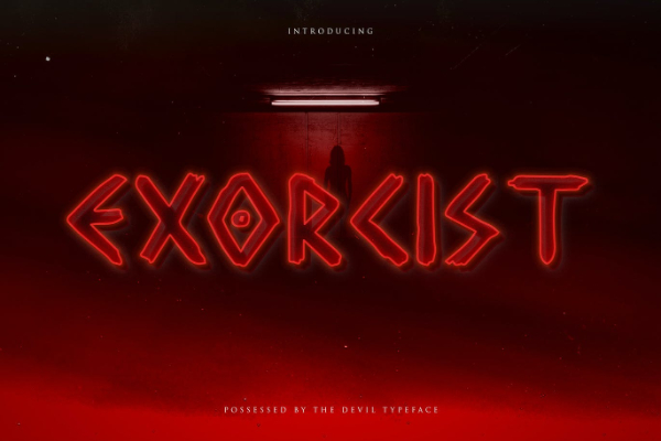 Scary Fonts to Give a Horror Feel : Exorcist