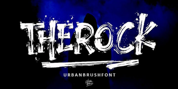 Amazing Sports & Fitness Fonts: TheRock