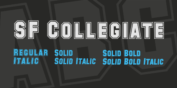 Amazing Sports & Fitness Fonts: SF Collegiate
