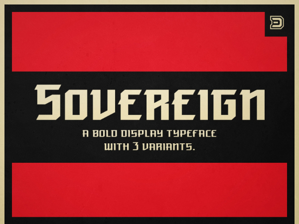 Amazing Sports & Fitness Fonts: Sovereign