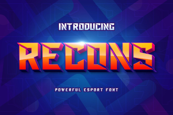 Amazing Sports & Fitness Fonts: Recons