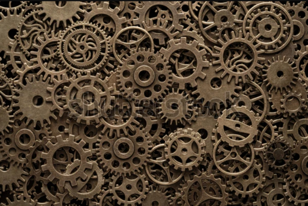 Industrial Textures for your Collection: Brass Cogwheels