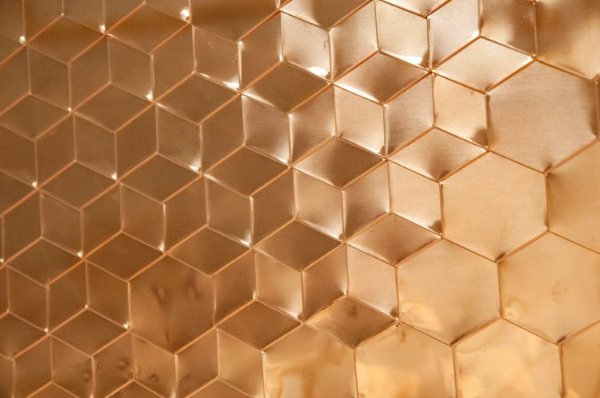 Industrial Textures for your Collection: Geometrical Copper Texture