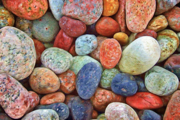 Free Stone Textures for your Collection: Colorful Pebbles
