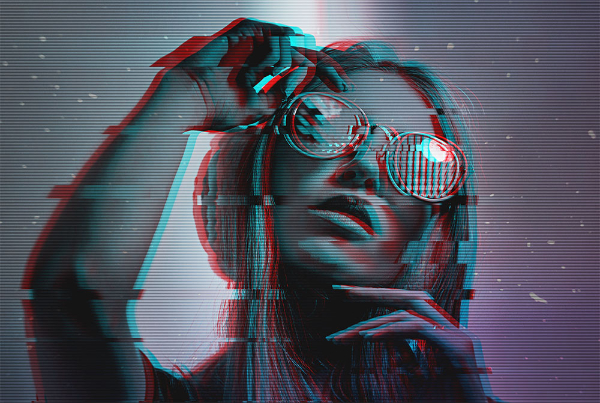Top Photoshop Trends of 2021 For Designers: Glitch Effect
