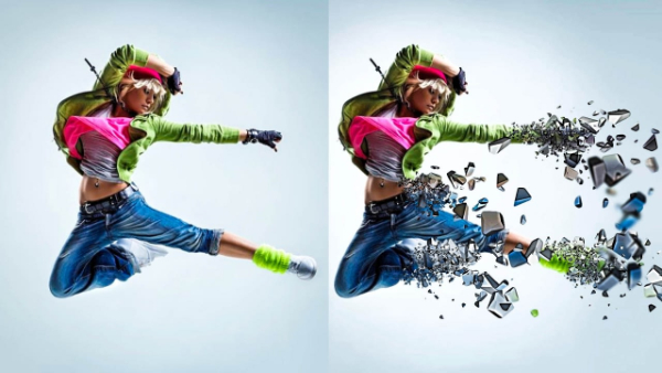 Top Photoshop Trends of 2021 For Designers: 3D Dispersion