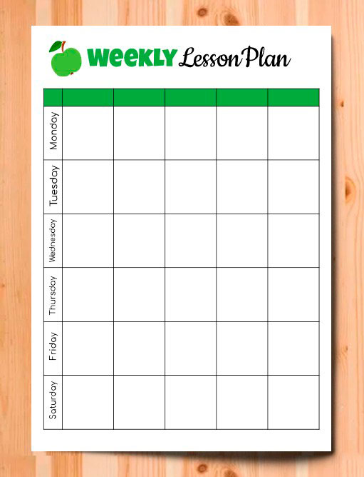 Editable Weekly Lesson Plan – free Google Docs template